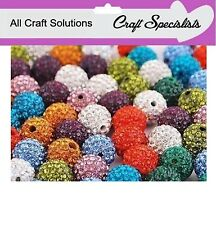 SHAMBALLA CLAY CRYSTAL DISCO BALL BEADS - 10mm PAVE ROUND BEADS