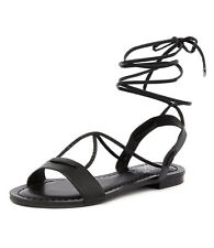 New I Love Billy Shawai Black Women Shoes Casuals Flats Sandals