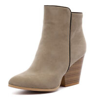 New Ko Fashion Dank Beige Micro Suede Women Shoes Boots Ankle Boots Heels