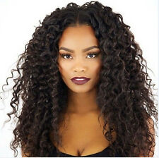 Brazilian Curly Full Lace Wig Front lace wig Human Hair baby hair bleached knots