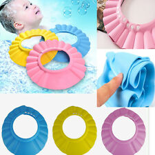 Cute Baby Shower Cap Safe Adjustable Shampoo Bath Bathing Hat Wash Hair Shield