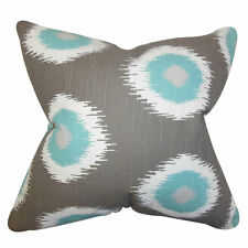 The Pillow Collection Paegna Ikat Pilllow Gray