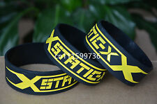 STATIC-X Silicone Rubber 1 Wide Debossed Wristband Bracelet