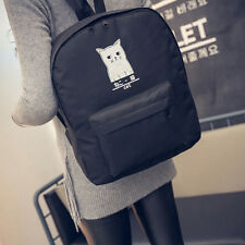 Women Cat Canvas Backpack Bag Girls Bookbags Casual Travel Shoulder Bags Fashion