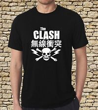 Black T-shirt The Clash Japan Jam Punk Rock Band Metal Band One Side S to 3XL
