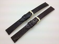 16mm SHORT Black Brown Hadley Roma Genuine Leather Watch Band Java Lizard MS700