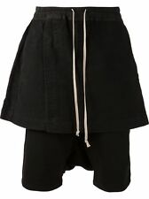 Mens RICK OWENS BLACK SKIRT SHORTS DRAWSTRING DRKSHDW BOXER RP£480 Mixed sizes