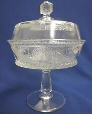 Antique EAPG Oriental Japanese Pattern Covered Compote by George Duncan & Sons