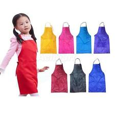 Cute Waterproof Kids Apron for Household Cooking Baking Painting Bib Apron