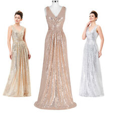 Sequins Formal Prom Cocktail Party Ball Gown Long Evening Bridesmaid Maxi Dress