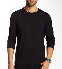 John Varvatos Star USA Men's Long Sleeve Crew Neck T-Shirt Black $118 msrp NWT