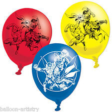 6 DC Comics JUSTICE LEAGUE Children's Birthday Party Printed Latex Balloons