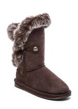 Australia Luxe Collective Women's Winter Nordic Rabbit Fur short  Boots Shoes