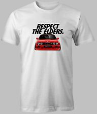 NEW T-SHIRT BMW E30 M3 M POWER Respect Personalized CUSTOM PRINT 100% COTTON