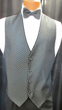 Charcoal Allure Fullback Tuxedo Vest & Bow Tie by Jean Yves 040 Wedding Prom