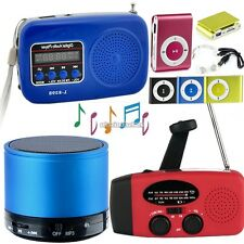 Rechargeable USB TF Card Speaker MP3 Music Sound Box w/ FM Radio Mini Portable