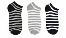 Mens Striped Casual Ankle Socks for Sneakers Sports Stylish Fashion Cotton Korea
