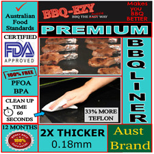 BBQ MATS PREMIUM(2xThicker) BBQ Sheet & Teflon Coated Liner+Money Back Guarantee