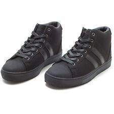 Womens Ladies Mid Top Sneakers Athletic Casual Shoes Black Boots US_7 8 9 10 11