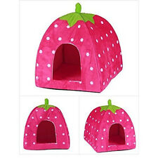 Strawberry Pet Dog Cat Bed House Kennel Doggy Puppy Warm Cushion Soft Basket Pad