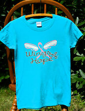 """Breast Cancer Awareness """"WINGS OF HOPE"""" Pink Ribbon Missy Fit T-Shirt S-3XL tee"""