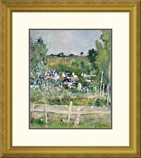 'A View of Auvers-Sur-Oise; The Fence' by Paul Cezanne Framed Painting Print