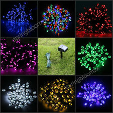 1 x Solar Power 7 Colors Light 100 LED Garden Christmas Party String Fairy Lamp