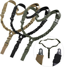Single Point Tactical Military Nylon Bungee Sling Strap W/ Quick Release Buckle
