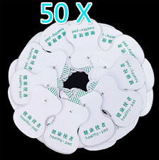 50x Electrode Pads for Tens Acupuncture Digital Therapy Machine Body Massager FT