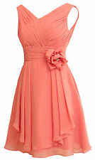2016 Women's Short Homecoming Prom Cocktail Bridesmaid Dress Lace Up Party Gowns