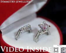2.38CT Princess Cut Fine Jewellery Rings Engagement Ring St Silver Italy JYB16*