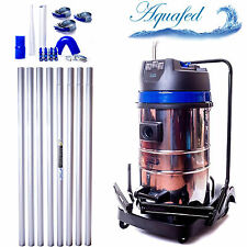 Aquafed 32ft 3600w Gutter Vacuum Cleaning Pole System Industrial Triple Motor