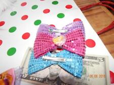one Disney Hairbow Sparkle Dog strong Clip PRINCESS BOWS
