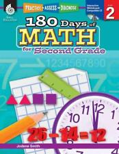 180 DAYS OF MATH FOR SECOND GRADE - NEW PAPERBACK BOOK