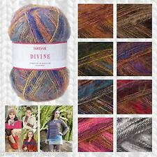 SIRDAR DIVINE DK MULTI-TEXTURED KNITTING & CROCHET YARN & PATTERN COLLECTION