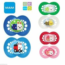 Mam Moshi Moshi orthodontic soothers or soother clips 6m+ boys/girls  Bpa Free
