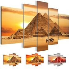 CANVAS PICTURE Picture 6018516_27 ART PRINT MURAL PYRAMIDS BROWN RED 5 pc.