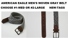 AMERICAN EAGLE OUTFITTERS WOVEN GRAY BELT SIZE #1-MED OR #2-LARGE NEW WITH TAGS