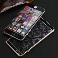 1x 3D Diamond Color Front + Back Screen Protector for iPhone Tempered Glass SMD