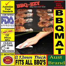 BBQ MAT Nonstick Teflon Grill Sheet Reusable Cooking Liner+Money Back Guarantee