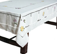 Xia Home Fashions Bouquet Embroidered Cutwork Tablecloth