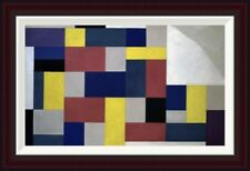 Global Gallery Composition by Theo van Doesburg Framed Painting Print