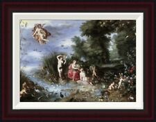 Allegory of The Elements by Jan Brueghel the Elder Framed Painting Print