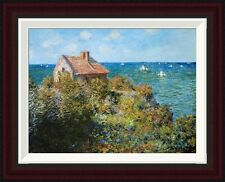 Global Gallery Fishermans Cottage by Claude Monet Framed Painting Print