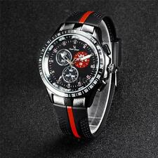 Luxury V6 Mens Military Silicone Sport Army Quartz 3 Sub-dials Wrist Watch R0A7