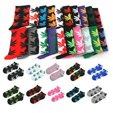 Unisex Men Women Healthy Marijuana Weed Maple Leaf Short Ankles Sport Socks Crew