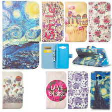 PU Leather Patternd Mobile Phone Case for Samsung Galaxy Stand Wallet Flip Cover
