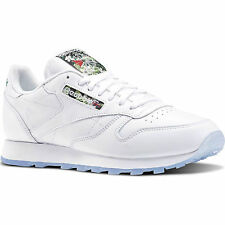 Reebok Mens CL Leather SF Soft Leather White Running Shoes Trainers DS V67855