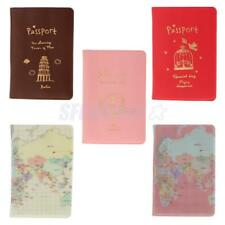 Passport Credit Card Holder Protector PU Leather Cover Travel Accessories