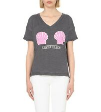 NEW WILDFOX COUTURE VENICE BEACH SHELLS TWISTED TOMBOY  TOP SHIRT TEE